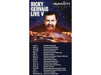 Ricky Gervais Hammersmith (Eventim) Apollo, London, United Kingdom Wednesday, 11 October 2017 19:30