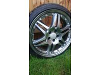 x4 19 inch AMG alloys with tyres