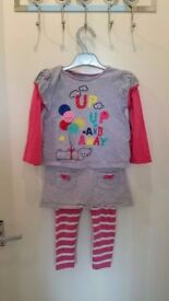 Girls 2-piece outfit sized 2-3 years. Long sleeve top and skirt/leggings.