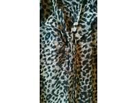 Oasis Leopard print shirt size 10/36