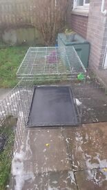 XXL Dog Cage with non-chewable tray
