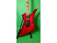 JACKSON KE3 TRANSPARENT RED KELLY Electric guitar MIJ Seymour Duncan pickups