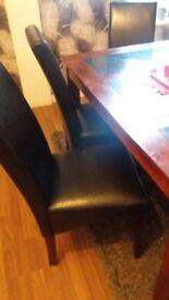 Table and 6 leather chairs pick up only £60
