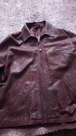 Leather Jacket-Mens - Large