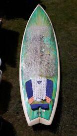 "Nigel semmens 6'10"" surf board"