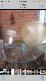 Very large round out door stainless steel lights £10 each