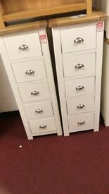 Kent Collection 5 drawer tall boy - Two Tone