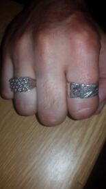 Sterling silver mens rings
