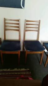 original vintage 70s velvet chair