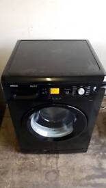 8kg 1200 spin Black washing machine very good condition 60cm wide
