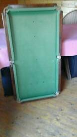 Small slate bottom snooker table