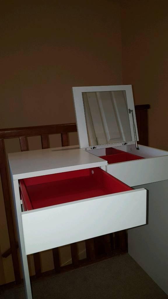 Ikea white brimnes dressing table/desk