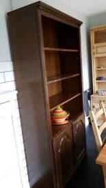 *REDUCED FURTHER* Oak veneer shelf and cupboard unit