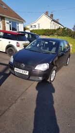 RELIABLE CAR NEEDS A NEW OWNER/ VOLKSWAGEN POLO 1.4 BLACK 2007