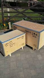 2x strong plywood storage boxes