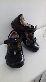 CLARKS girls black shoes