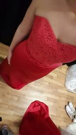Bridesmaid dress x2 size 12 red