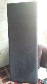 Kingsized black headboard