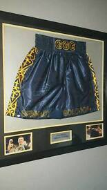 Gennady GGG Golovkin hand signed framed shorts with COA