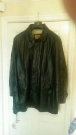 Gents Ciro Citterio Leather Coat