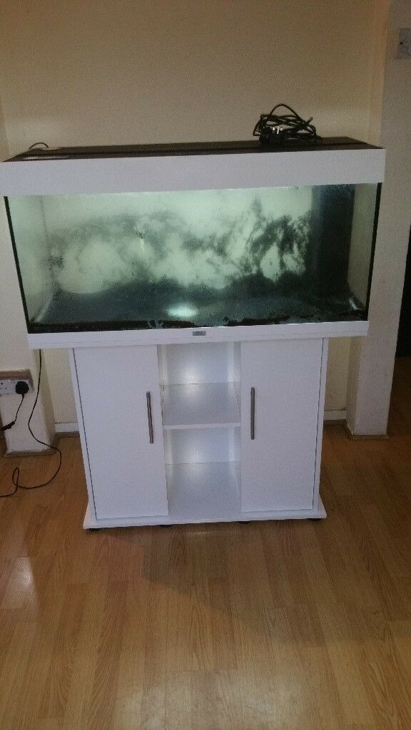 Juwel rio 180 litre fish tank and stand gloss white