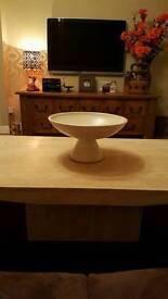 Beautiful cream marble coffee table.