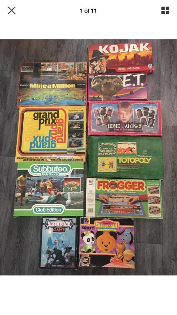 old games lot vintage 70 80s board games tv and movie and. Black Bedroom Furniture Sets. Home Design Ideas
