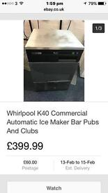 Whirlpool k40 ice maker for pubs and clubs