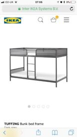 IKEA bunk beds tuffing grey with mattresses