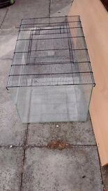 Glass hamster / gerbil home