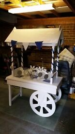 Sweet cart and accessories for sale.
