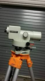 Builders or surveyors level and theodolite