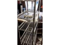 INOX SHELVES GOOD FOR BUSINESS OR DOMESTIC USE