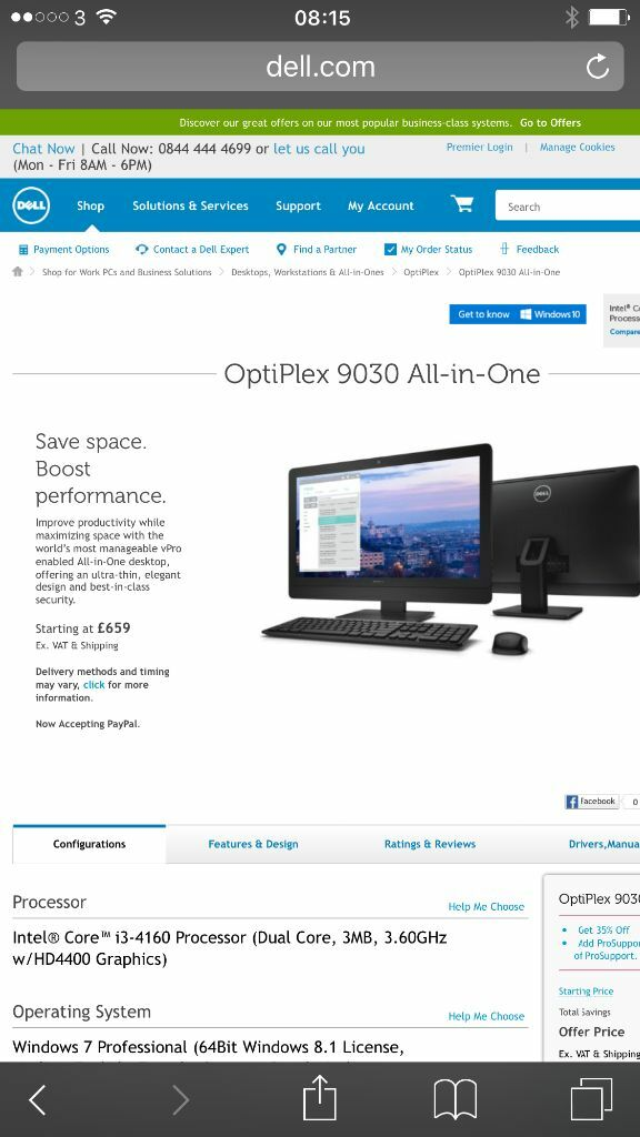 New DELL 9030 all-in-one optiplex | in Woolwich, London | Gumtree