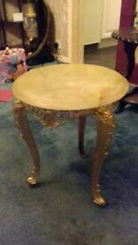 ORNATE MARBLE SIDE TABLE
