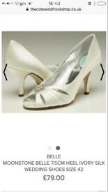 Bridal shoes from belle size 5