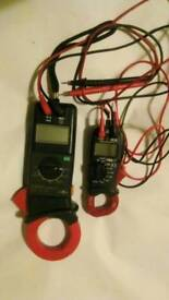 Two clamp meters maplin n54fu and yf_8050