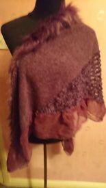 Purple Mixed textile shawl