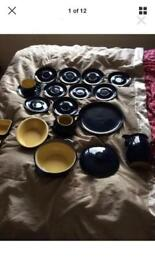 Collection. Of vintage cottage blue denby