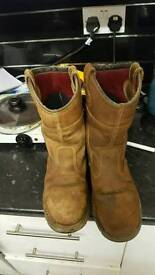 2 pears for riggers steel toe cap boots