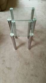 Chrome/glass nest of tables