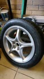 New tyre and alloy