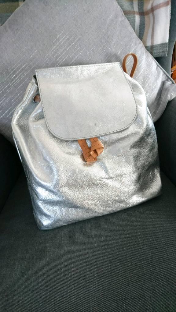 Silver John Lewis Morgan backpack  2bfae2e86