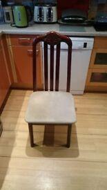 2 Dark Wood Chairs