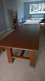 very large solid dining table