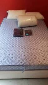 Divan Bed + Spring sprung Matress + Quilt and 2 Pillows