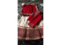 Lehenga saree in maroon/red