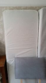 Single Divan Bed with Headboard and mattress - no marks - only used a couple of times