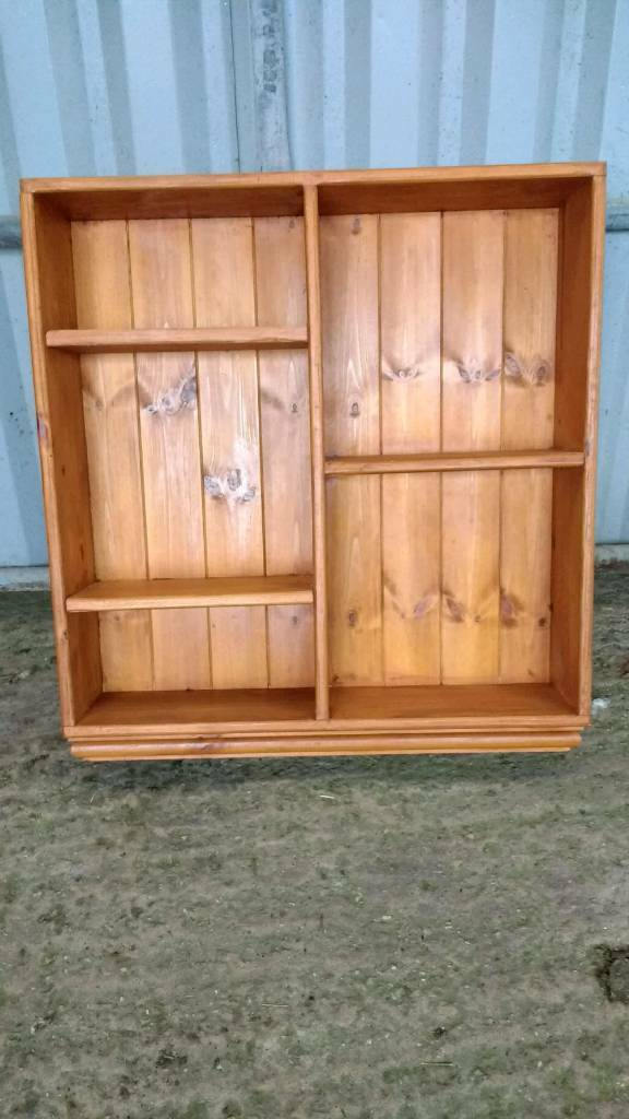 Pine Shelving Storage wall Unit