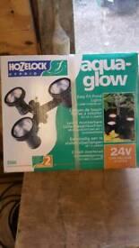 Aqua glow pond light
